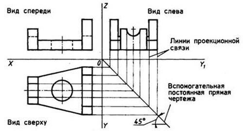 Построение третьей проекции