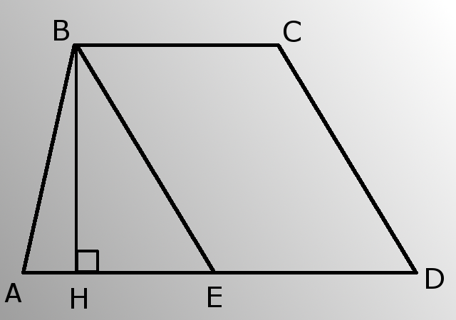 How to find the height of a trapezoid if you know all sides