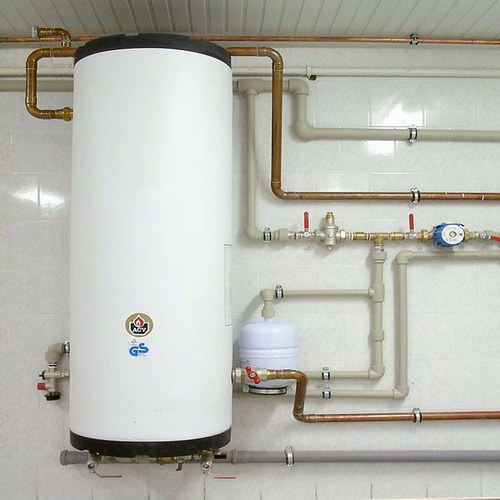 How to connect the indirect heating boiler