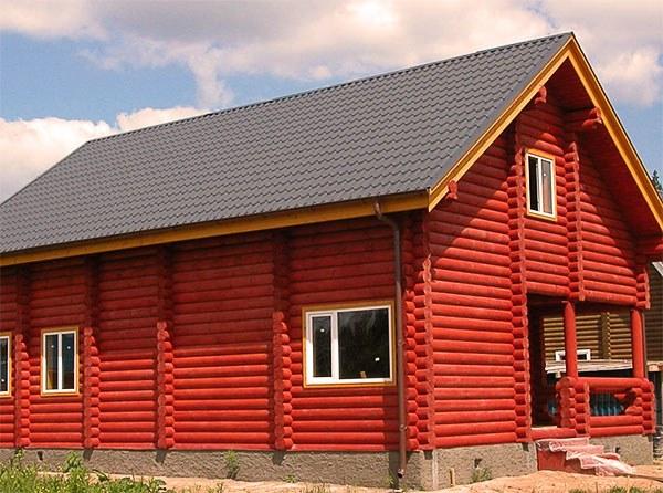 Как покрасить ветхий дом