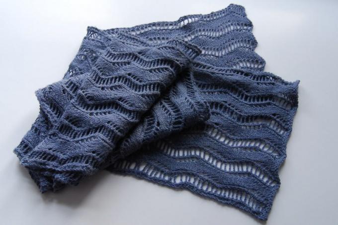 Как закрыть петли шарфа