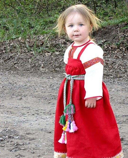 Как сшить русский сарафан для девочки