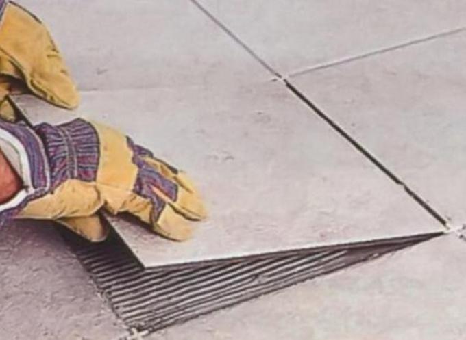 Как заменить одну плитку на полу