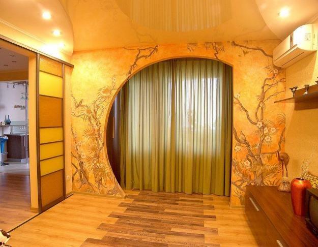 Фото дизайн арки на зал