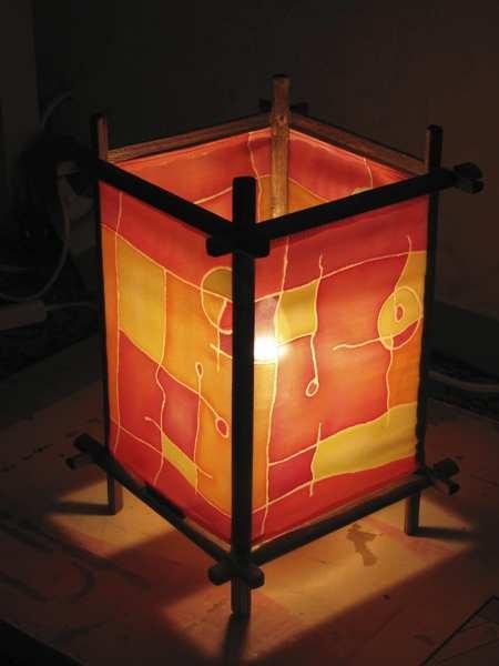Как сделать японский светильник