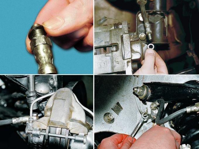 Как менять тормозной шланг