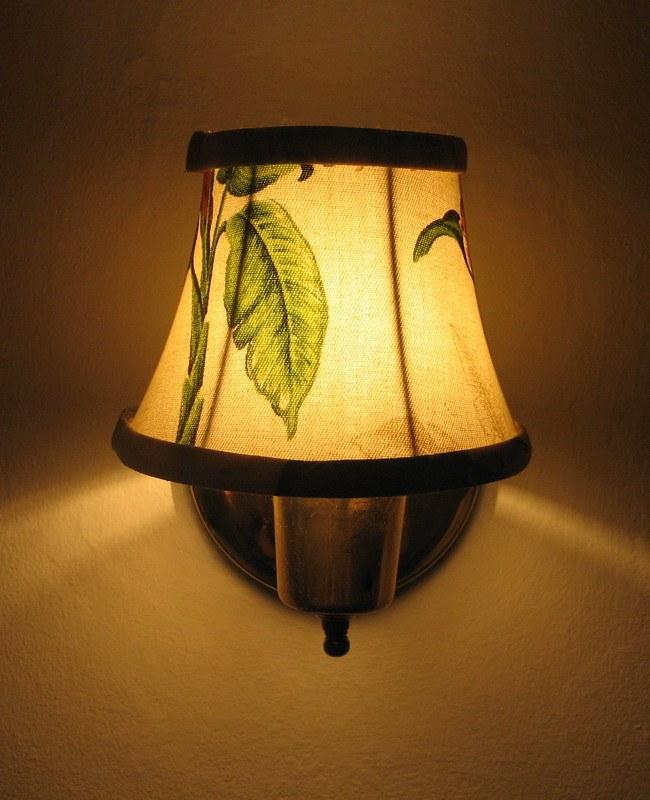 Как перетянуть светильник