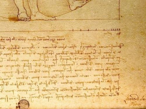"Mirror writing. What ""handwriting of Leonardo""?"