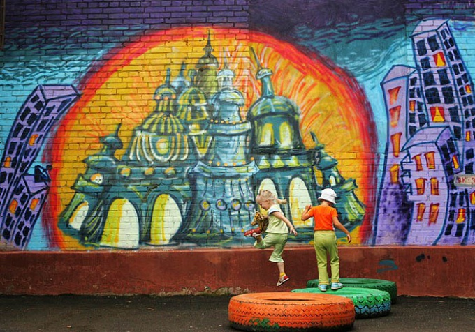 Как написать на стене граффити