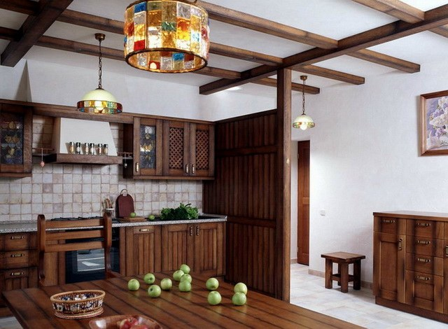 How to close the beams on the ceiling