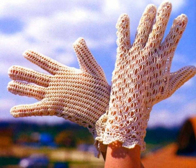 How to knit fishnet gloves crochet