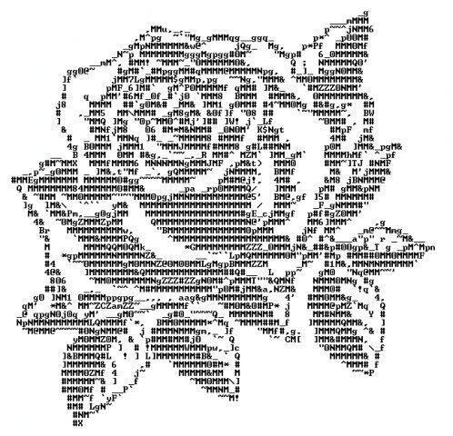 Как нарисовать розу символами