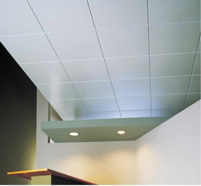 How to glue ceiling panel