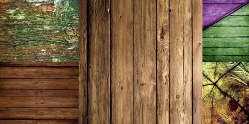 Состаренное дерево можно применить для отделки дома