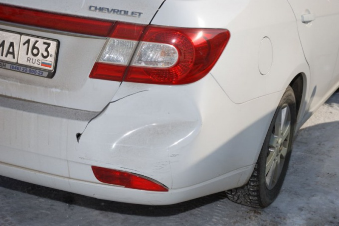 How to repair a cracked bumper
