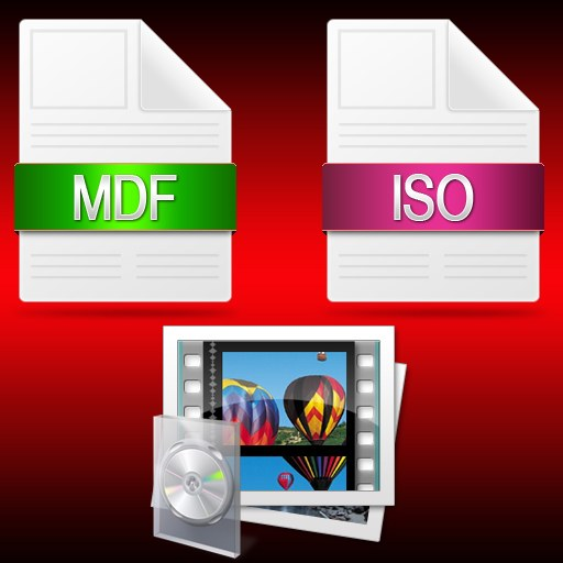 How to rename the mdf file to iso