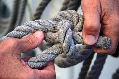 Как завязать веревку без узлов