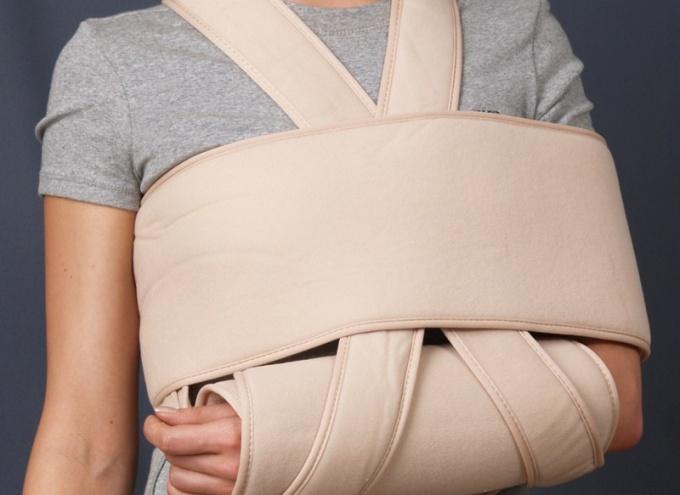 Как перебинтовывать плечо