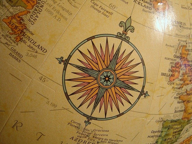 How to define cardinal directions by the sun