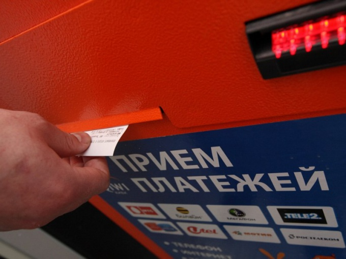 Как платить за телефон через терминал