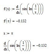 the calculation of the exact value of the derivative
