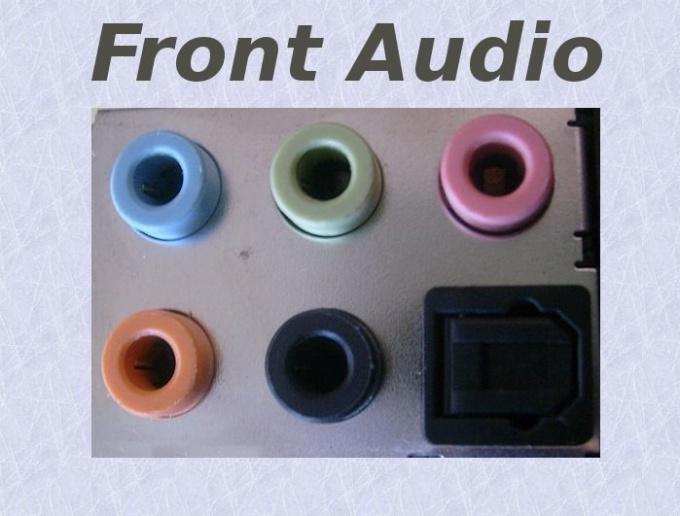 Как включить звук на передней панели