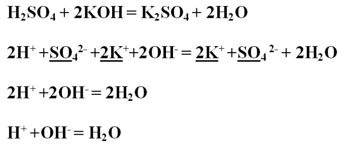 How to write ionic <strong>equation</strong>