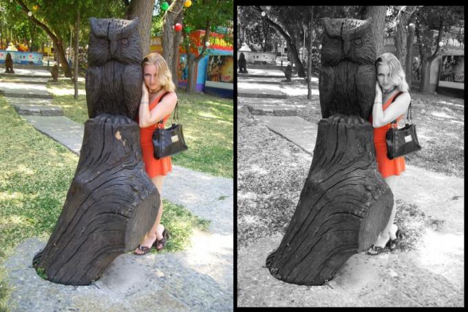 Как на черно-белой <strong>фотографии</strong> оставить цветную <b>деталь</b>
