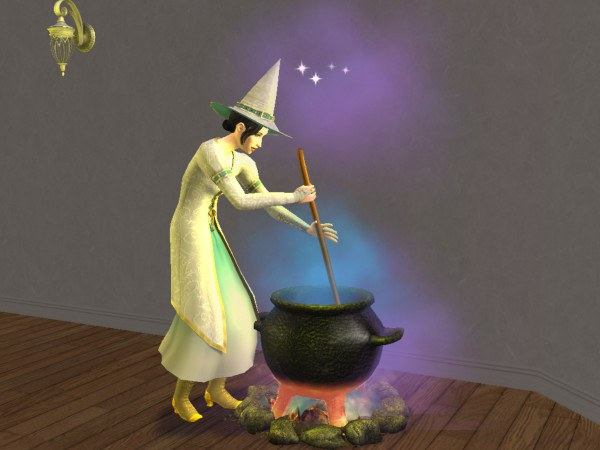 As in the Sims 2 become a witch