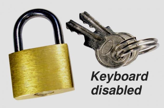 Как блокировать клавиатуру