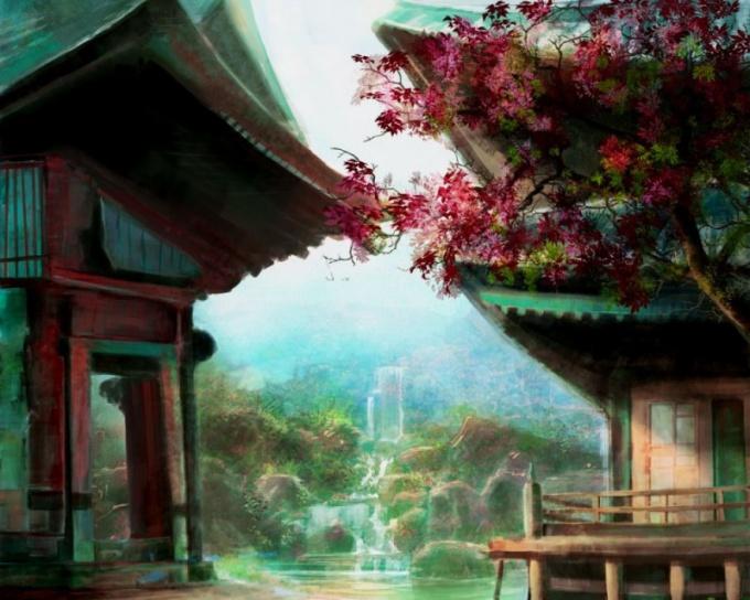 Как нарисовать японскую картину