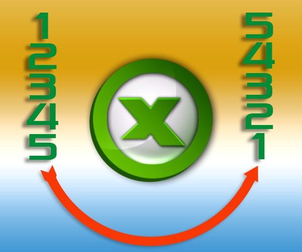 Как в Excel перевернуть столбец