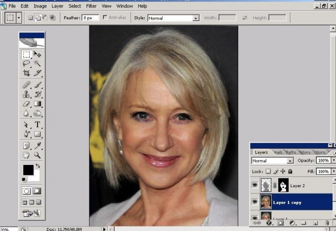 Как в <b>Фотошопе</b> сделать <strong>лицо</strong> моложе