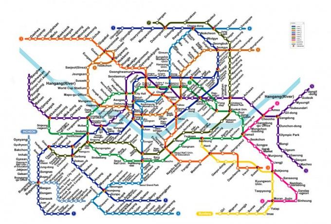 Схема <strong>метро</strong> в Сеуле: http://ballininbusan.com/wp-content/uploads/2012/01/seoul_subway_e.jpg