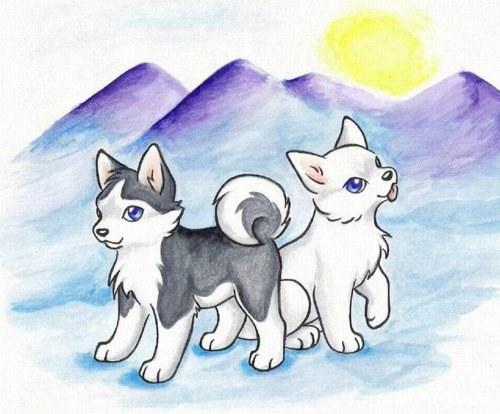Как нарисовать ребенку волка