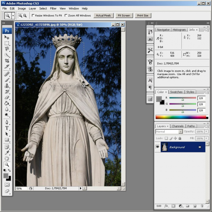How to animate <strong> statues </ strong> in <b> Photoshop </ b>
