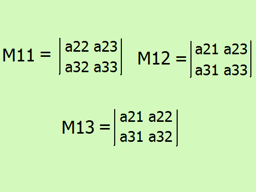 How to compute the determinant, expanding it on <b>elements</b> <em>string</em>