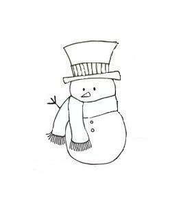 Как нарисовать <strong>снеговика</strong> <b>карандашом</b>
