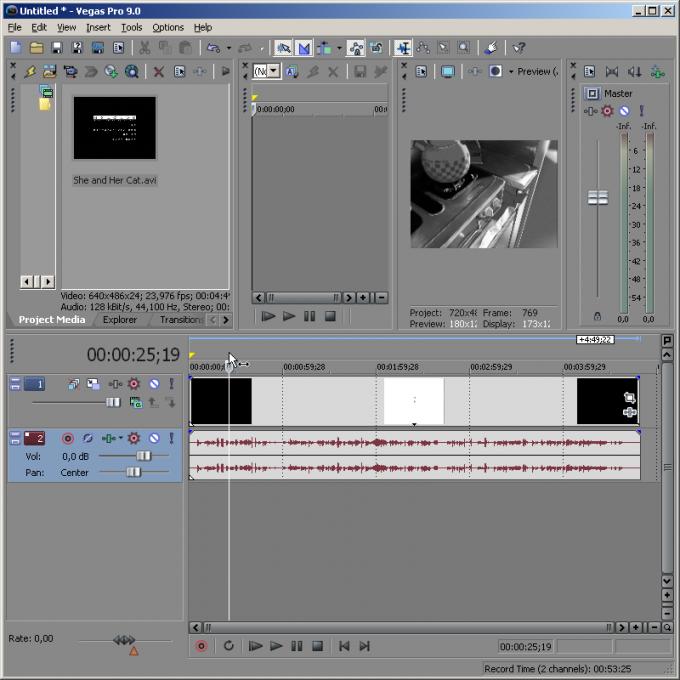 Как в Sony Vegas разрезать видео