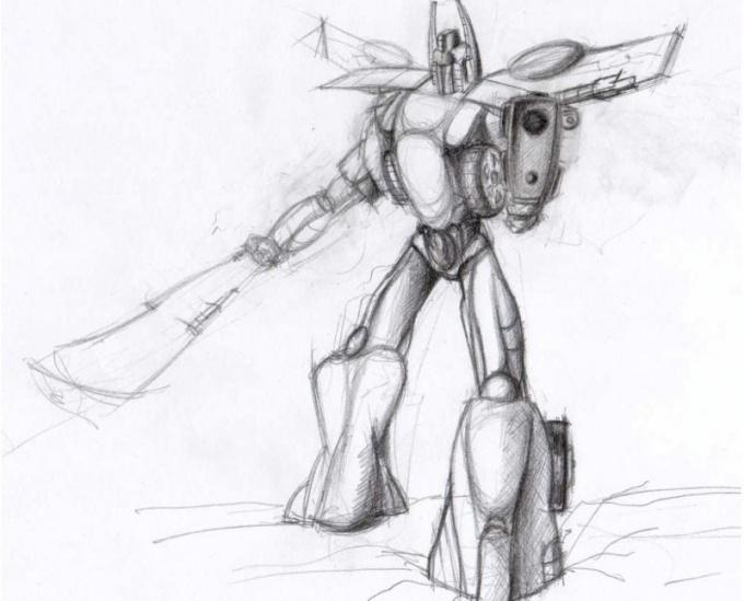 Как нарисовать <strong>робота</strong> <b>карандашом</b>
