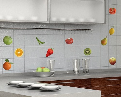 How to stick the tile in the kitchen
