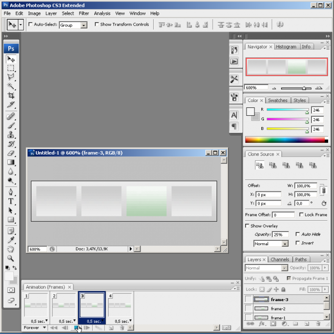 Как в фотошоп сделать гиф анимацию