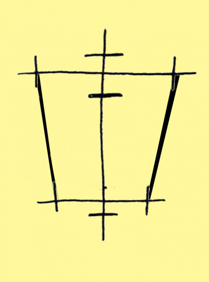 Соедините попарно точки на горизонтальных линиях