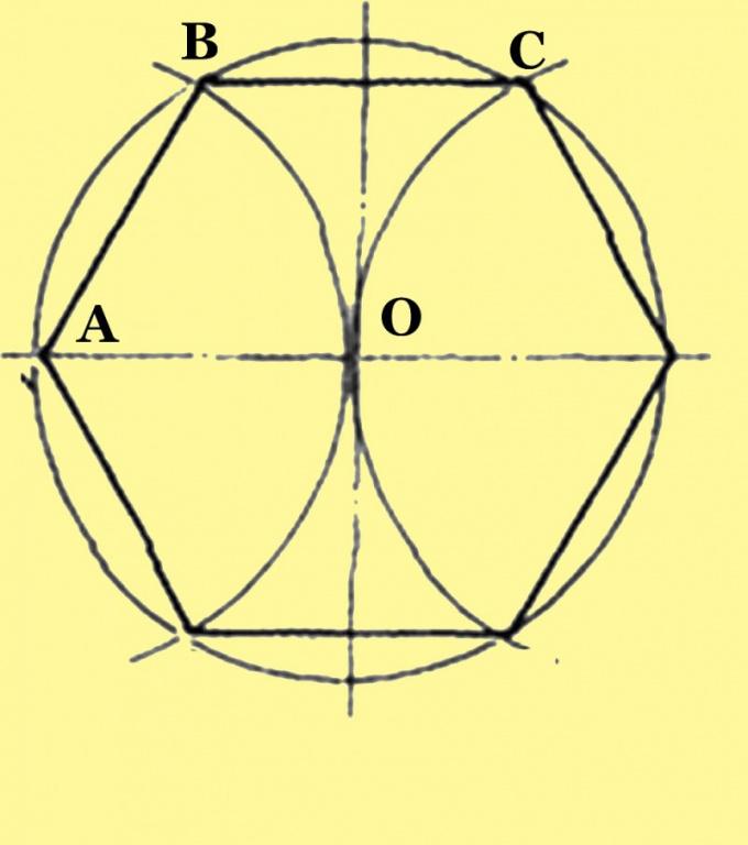 Постройте правильный шестиугольник
