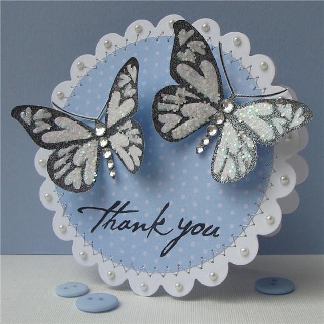 Днем рождения, как сделать открытку в форме бабочки