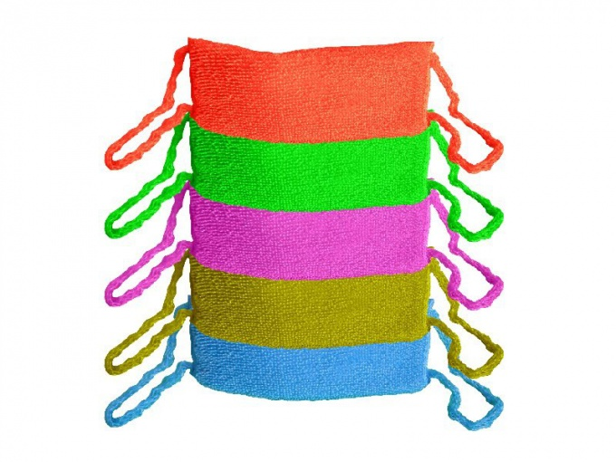 How to knit loops on sponges