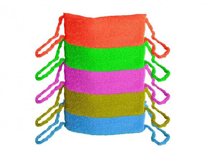 Как вязать петли на мочалки