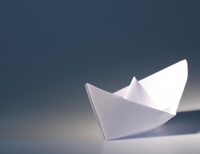 Как из бумаги сделать лодочку
