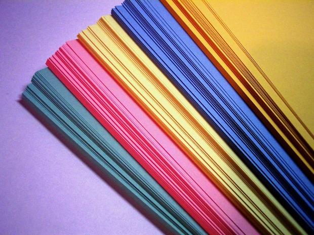 Как окрасить бумагу