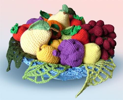 Как вязать крючком фрукты